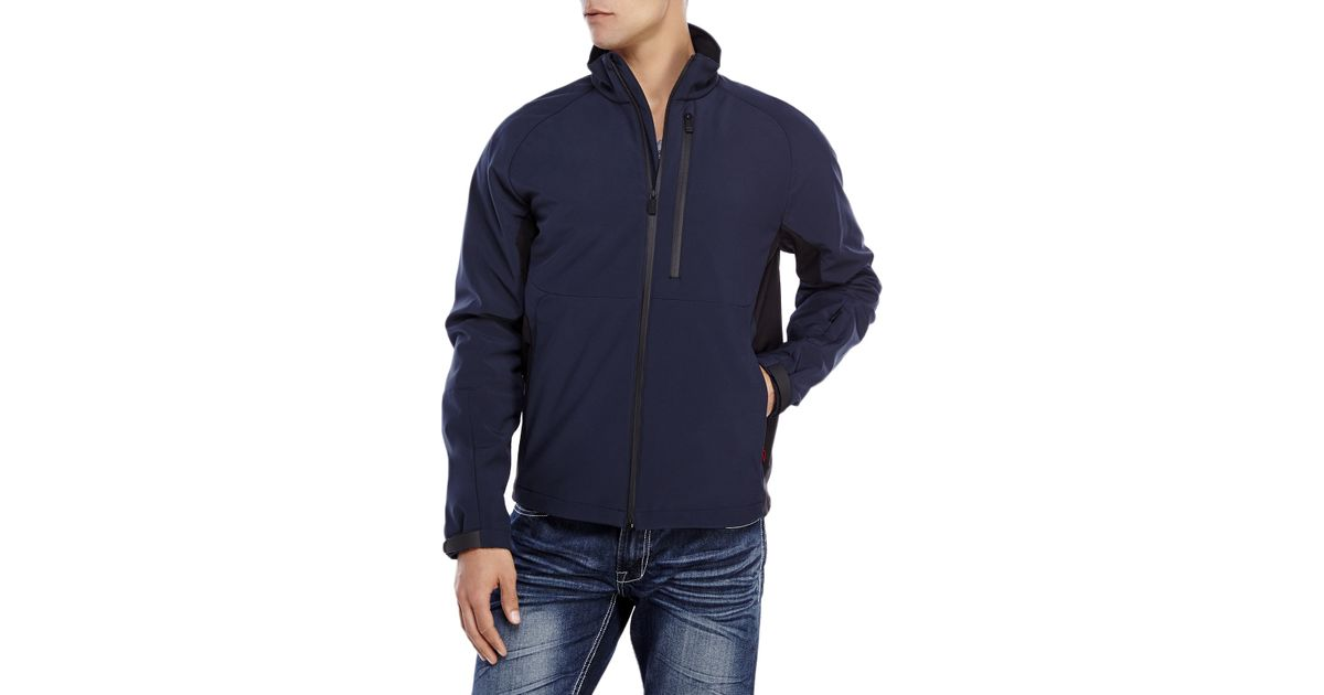 Tumi Navy Soft Shell Jacket In Blue For Men Lyst