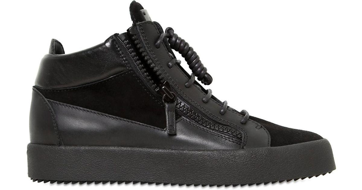Giuseppe Zanotti Sneakers high Connor leather rivet JXS0l