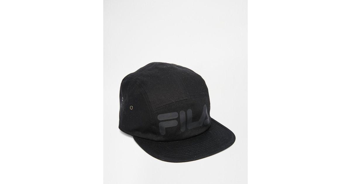 Fila Black Line 5 Panel Cap in Black for Men - Lyst 7a32c28f8f5
