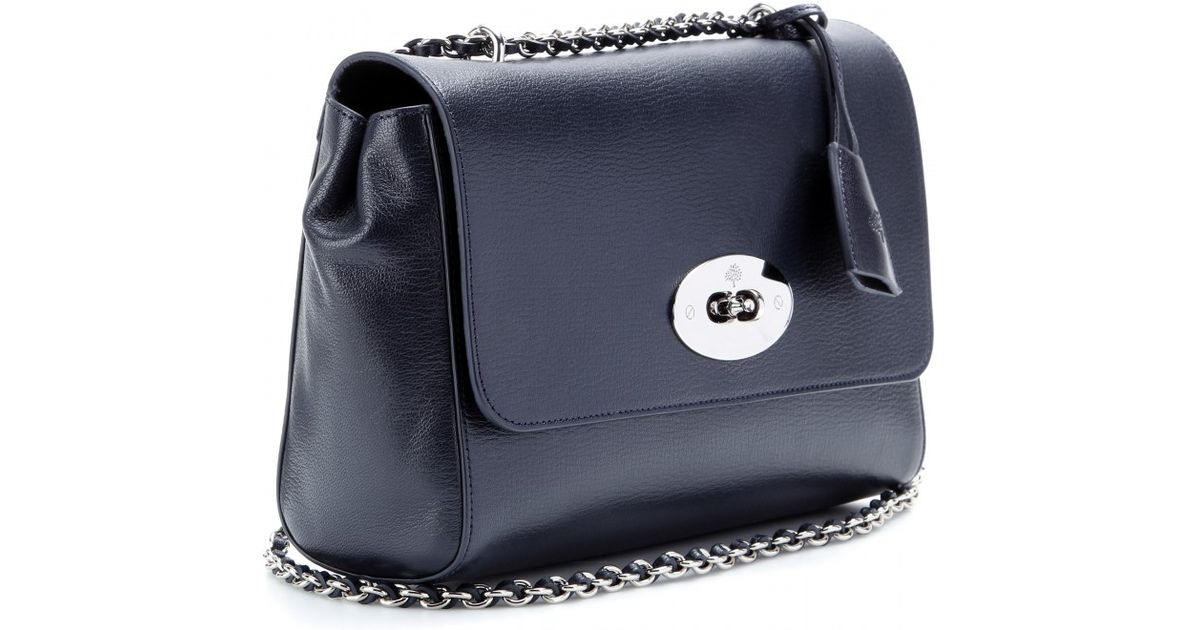 Lyst - Mulberry Medium Lily Grainy Leather Shoulder Bag in Blue 5f840a8aeb