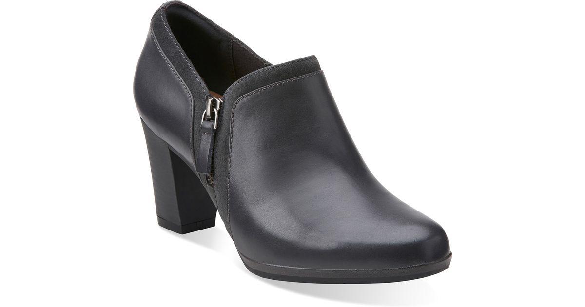 Womens Boots Clarks Brynn Fern Grey Leather/Suede