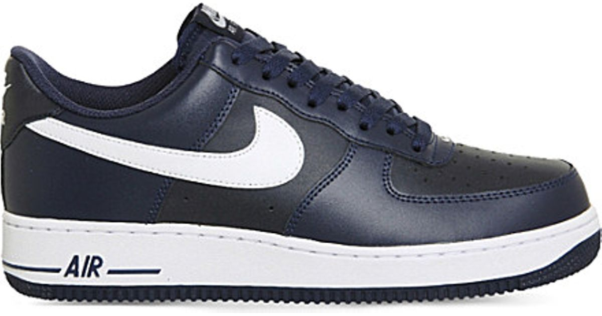 654b26e9427 ... france lyst nike air force 1 leather low top trainers in blue 419e6  7595e
