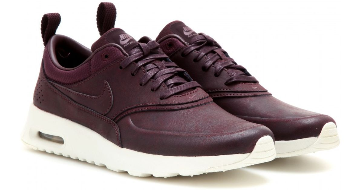 nike air max thea premium sneakers in purple lyst. Black Bedroom Furniture Sets. Home Design Ideas