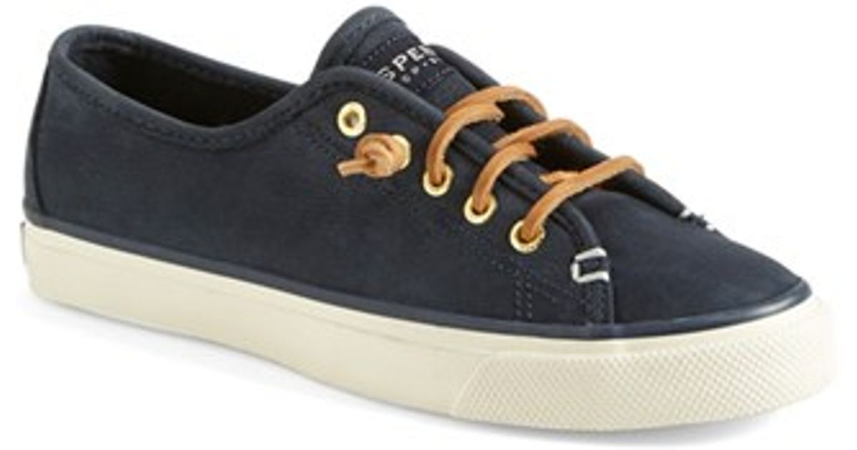 6b36e606a6b Lyst - Sperry Top-Sider  Seacoast  Washable Suede Boat Shoe (Women) in Blue