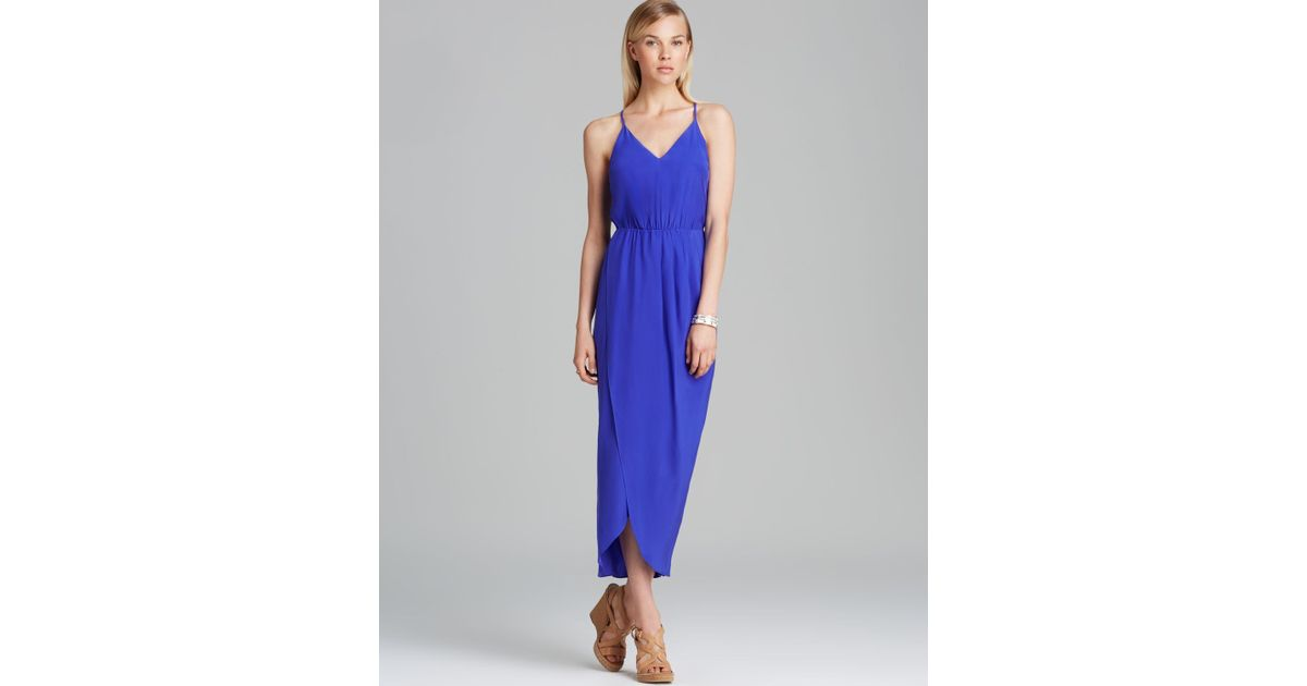 Lyst - Amanda Uprichard Cricket Silk Maxi Dress in Blue