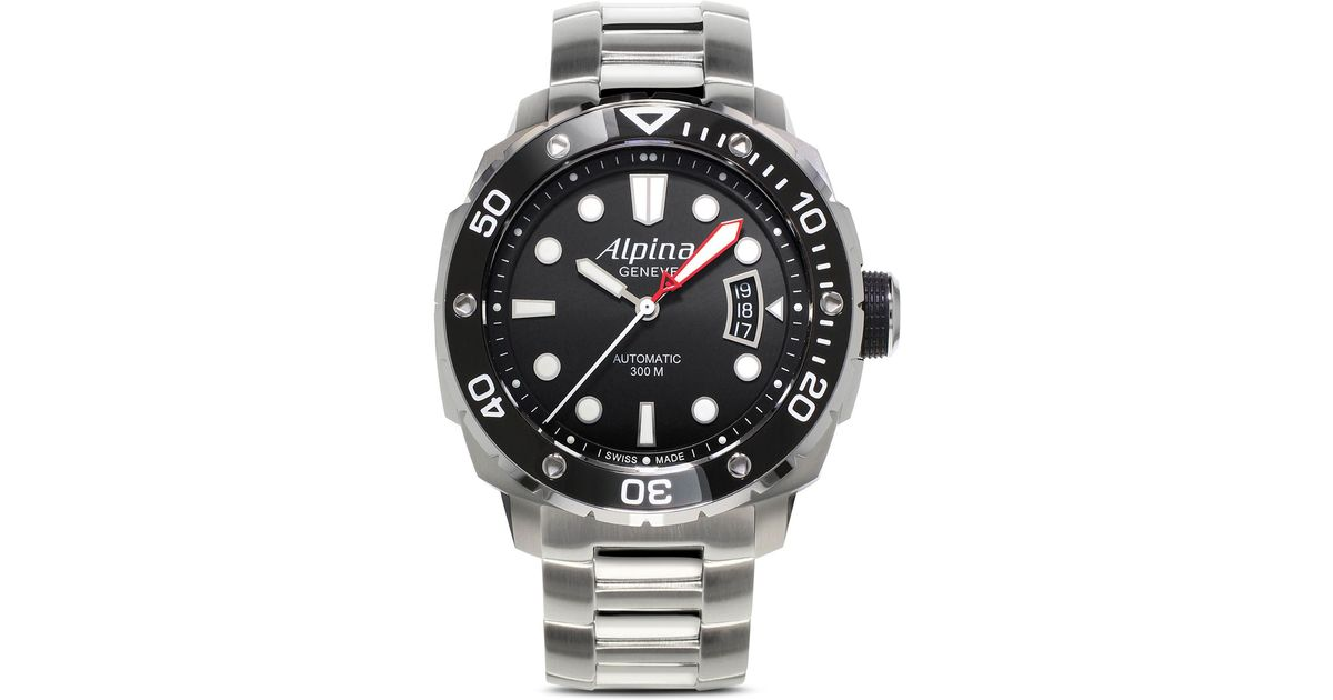 Lyst Alpina Automatic Seastrong Diver Watch Mm In Metallic - Alpina diver watch