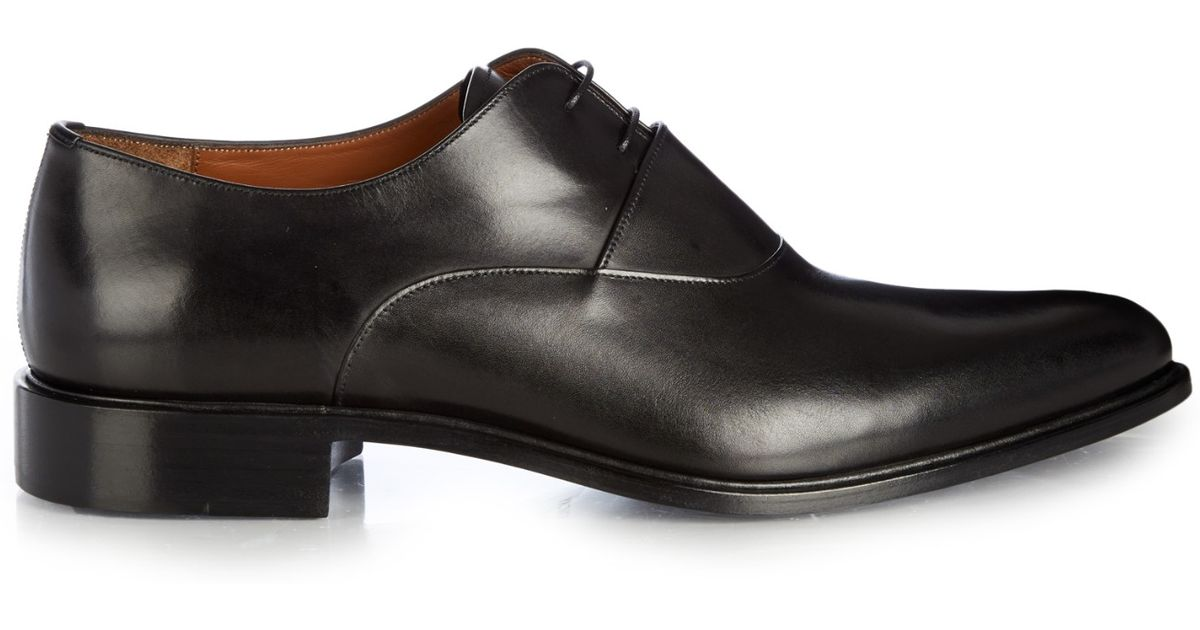Lyst - Givenchy Leather Derby Shoes in Black for Men 7ff2cda34f4c