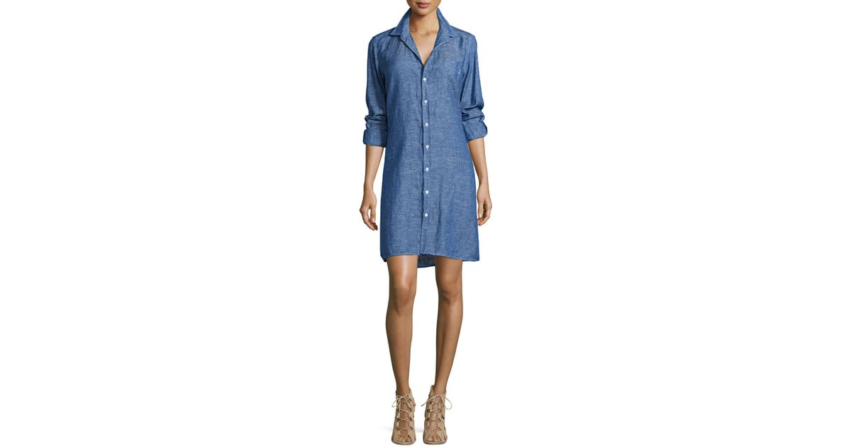 3c4373ad52 Lyst - Frank   Eileen Murphy Chambray Shirtdress in Blue