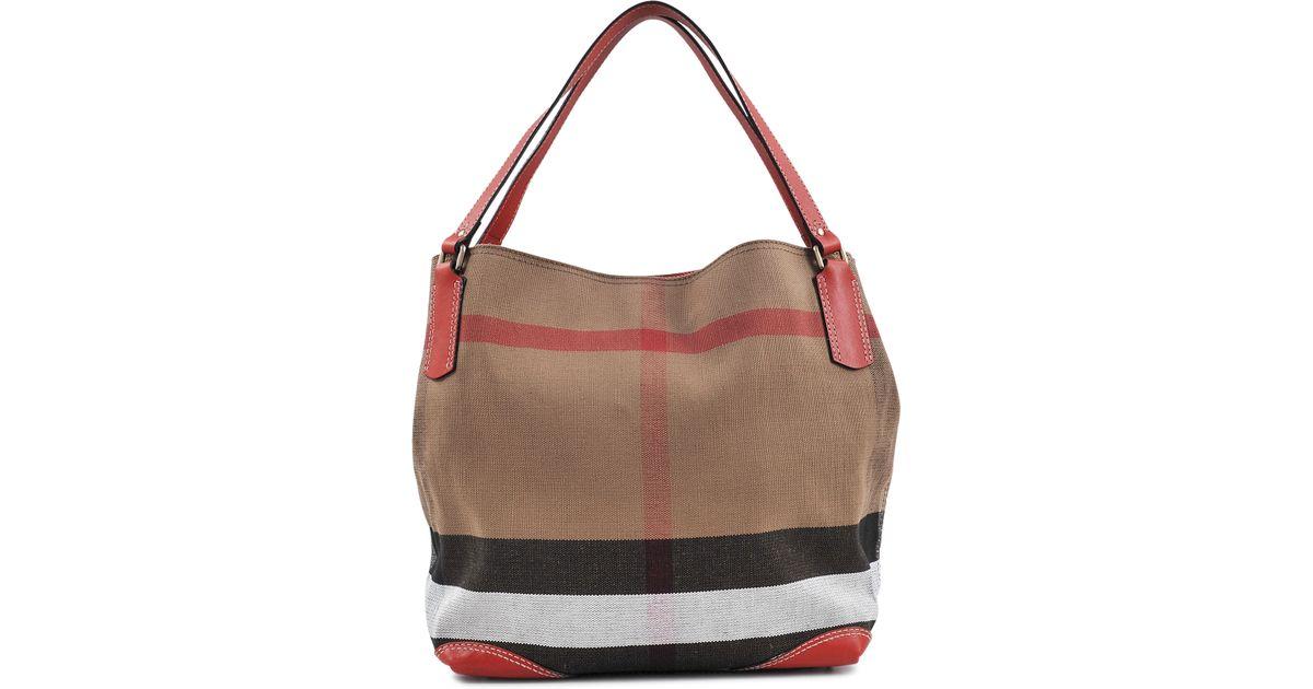 3f04fd1cf Burberry Sm Maidstone Brit Canvas Bag - Lyst