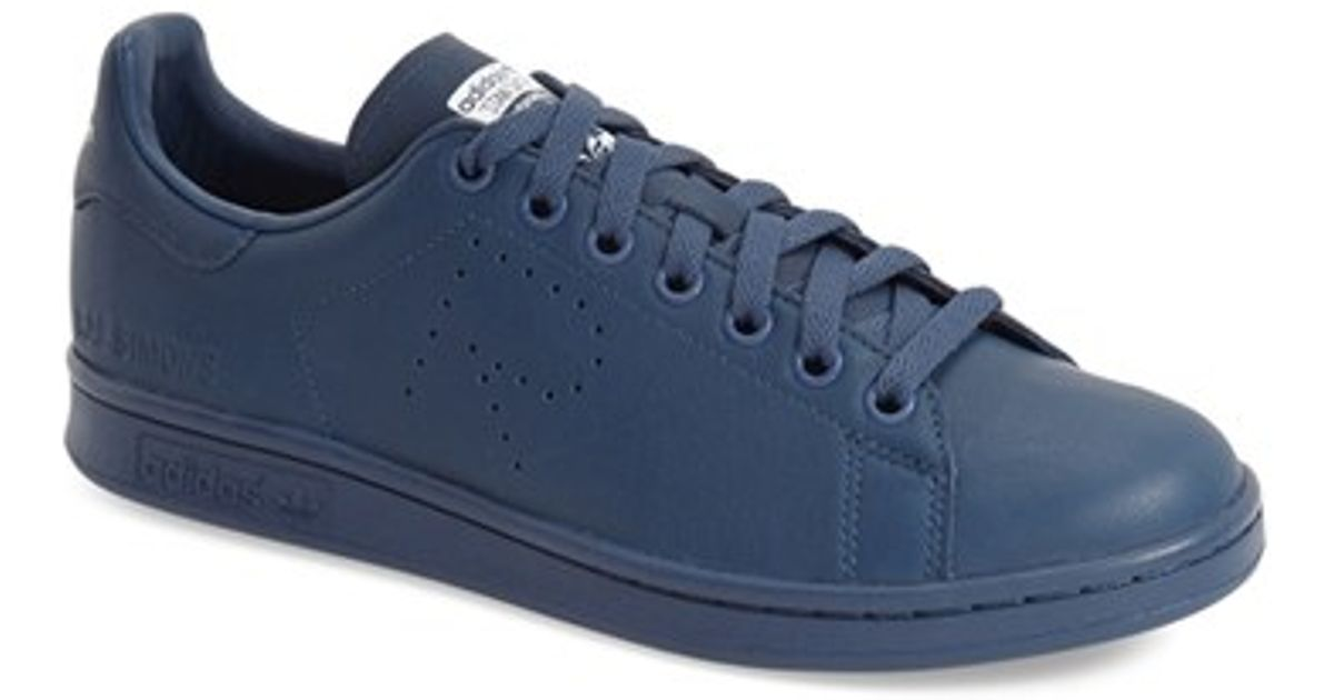 7d4028b949c9 ... real lyst adidas by raf simons stan smith sneakers in blue for men  7faba 5eba7