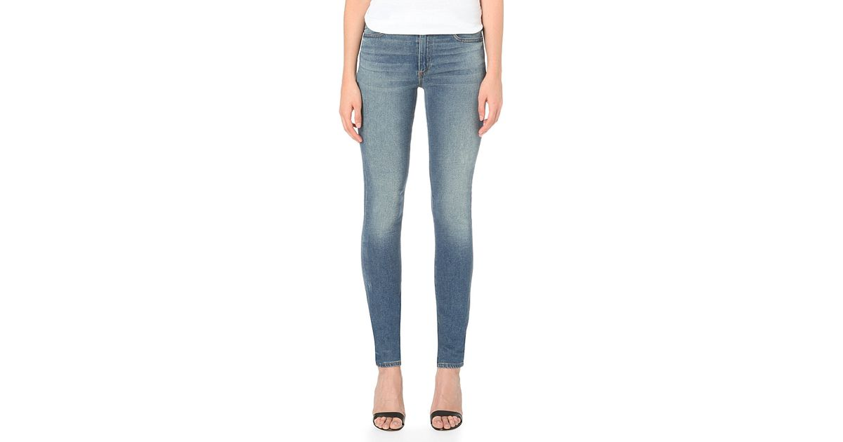 6ade0f7712 Lyst - Alexander Wang Wang 001 Slim-fit High-rise Jeans in Blue