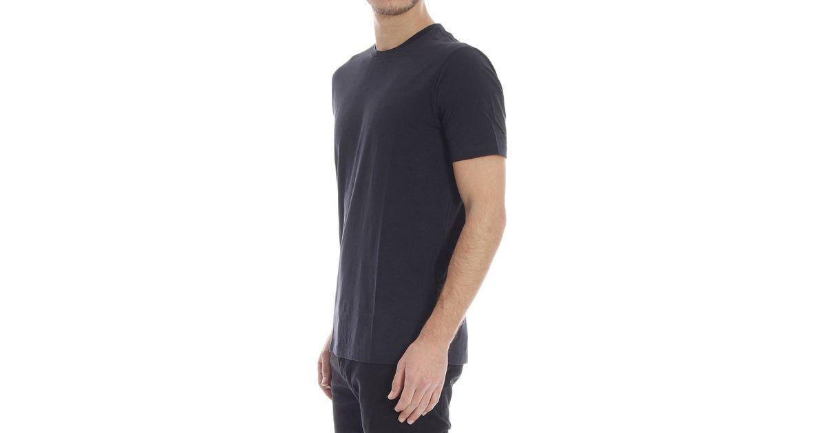 emporio armani t shirt in blue for men lyst. Black Bedroom Furniture Sets. Home Design Ideas