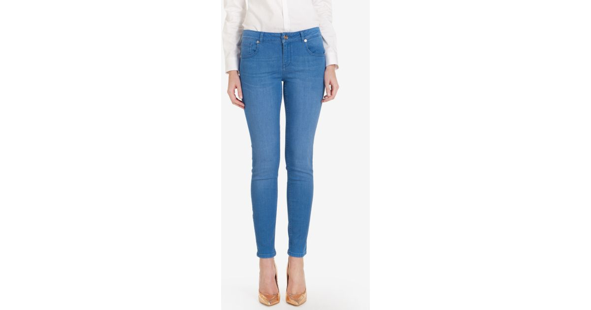 2f4622a0634e Lyst - Ted Baker Mid Wash Skinny Jeans in Blue