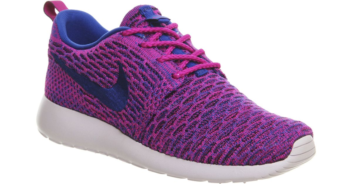 58c2b5e67e5c ... spain lyst nike roshe run flyknit w in purple 17b3a 3ad6f