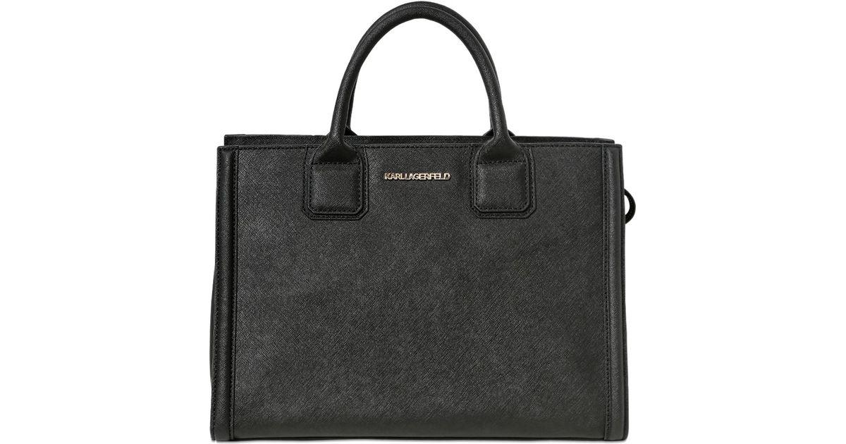 e8ba29e81ab1 Lyst - Karl Lagerfeld K Klassic Faux Leather Tote Bag in Black