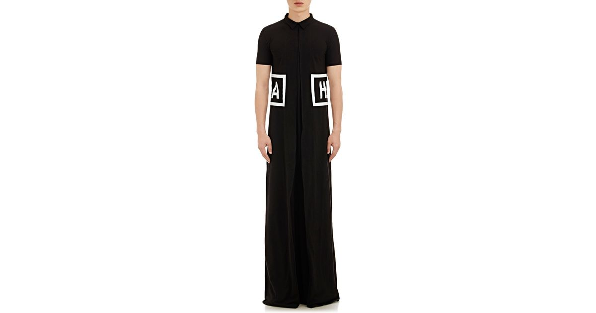 Lyst - Hood By Air Logo-graphic Short-sleeve Gown in Black for Men