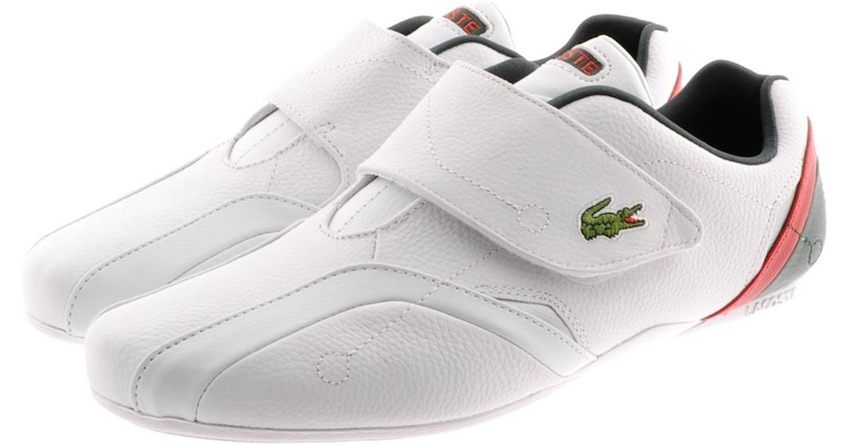 95919cf075a00b Lyst - Lacoste Protect Leather Trainers in White for Men
