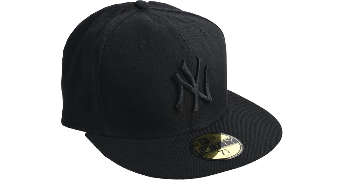 ... reduced field lyst ktz 59fifty ny yankees cap in black for men 5e445  3a3c0 89e665145afa