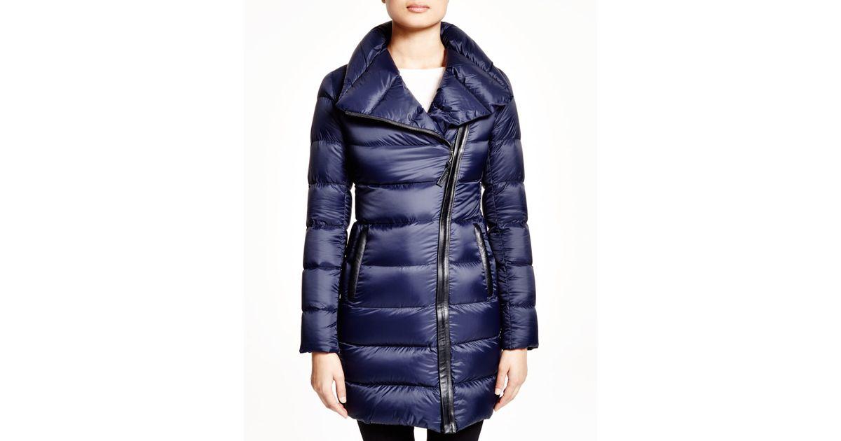 Mackage Yara Lightweight Down Coat in Blue | Lyst