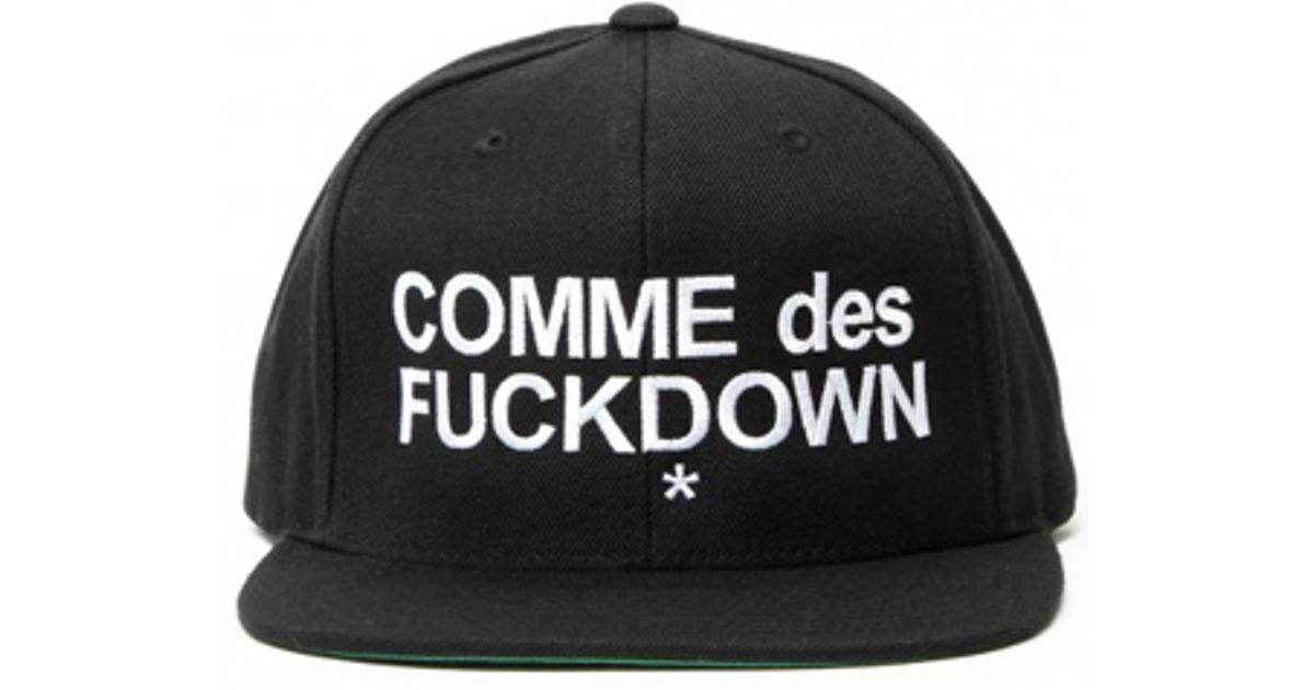b6e3df8c853 Lyst - SSUR Comme Des Fuckdown Snapback in Black for Men