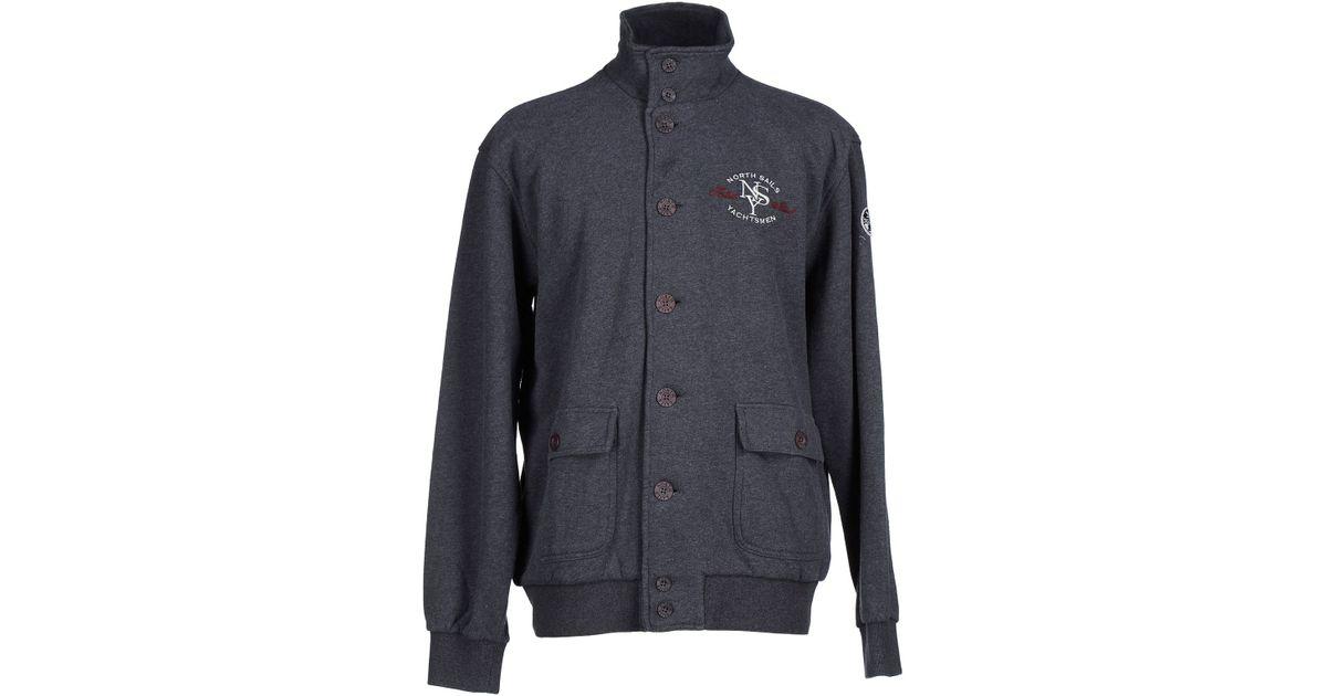 north sails jacket in gray for men lead lyst. Black Bedroom Furniture Sets. Home Design Ideas