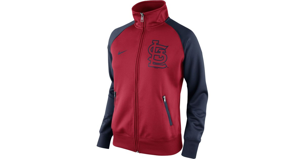 Lyst - Nike Women s St. Louis Cardinals Track Jacket in Red 89bbf2361