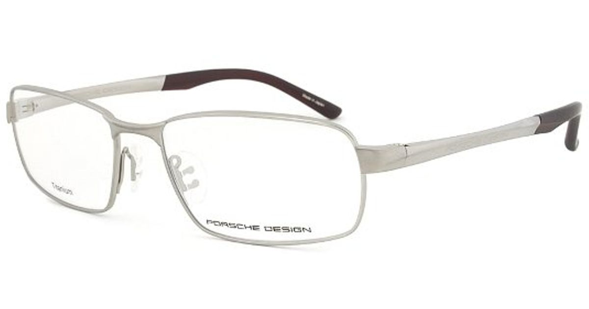 Lyst - Porsche Design Design P8212 B Titanium Gunmetal Eyeglasses ...