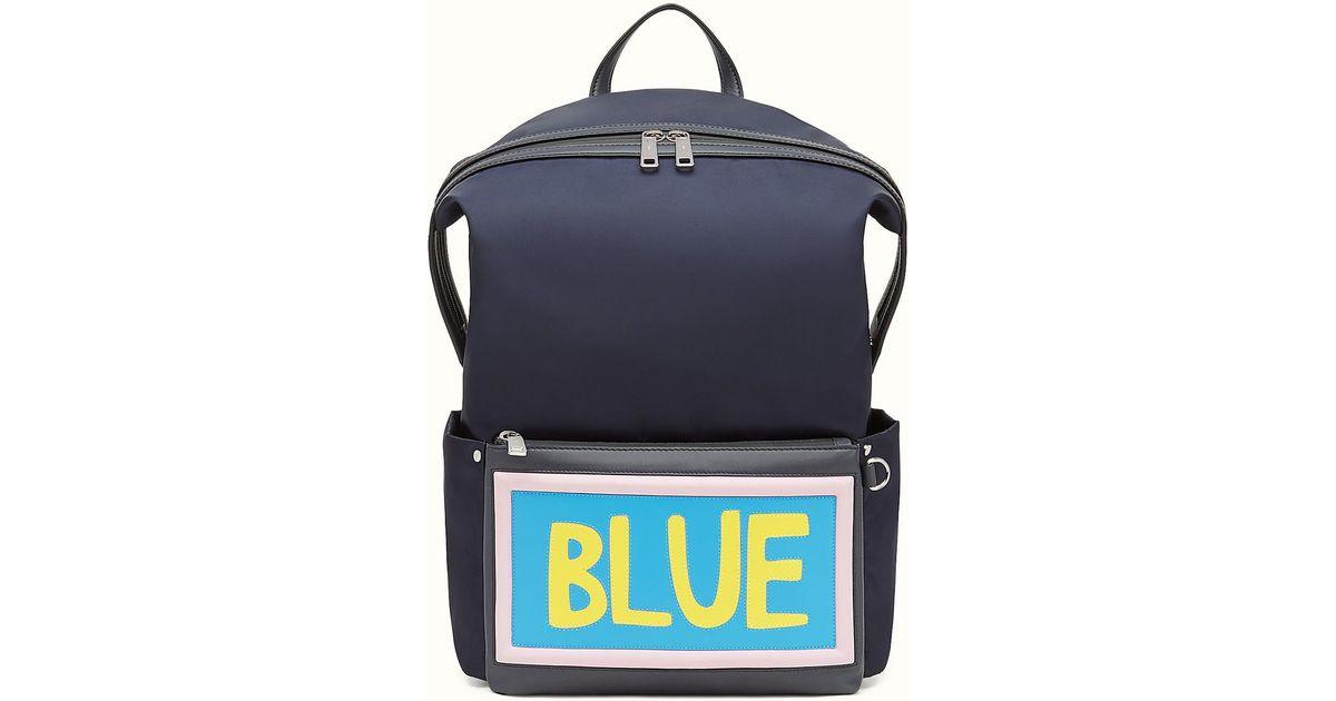 cfcacd352c52 Lyst - Fendi Backpack Backpack in Blue for Men