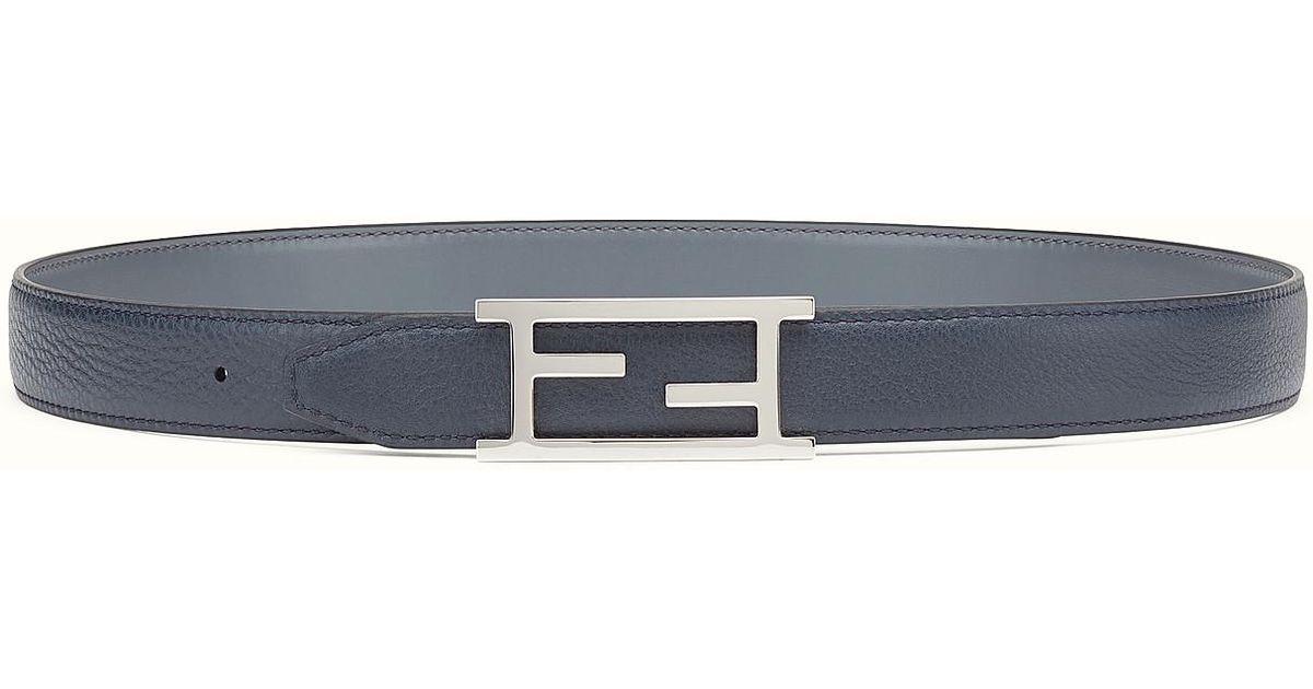 71e2fb28271e ... real lyst fendi belt belt in gray for men d0af5 f1449 ...