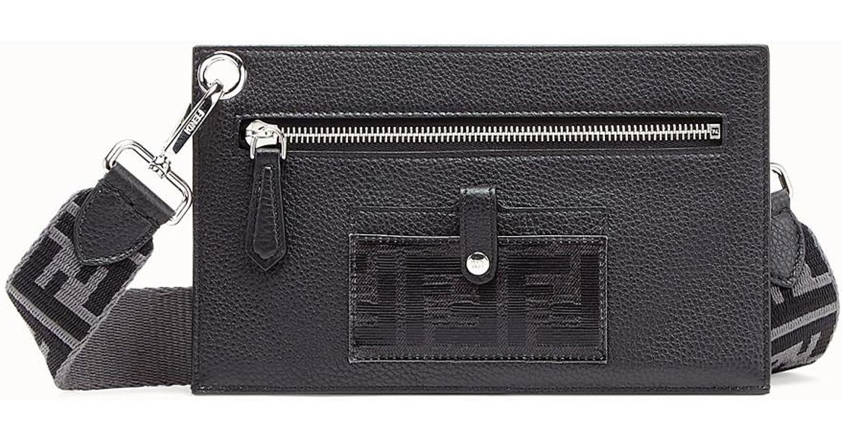 4baf84b9e6b7 Lyst - Fendi Flat Pouch in Black for Men