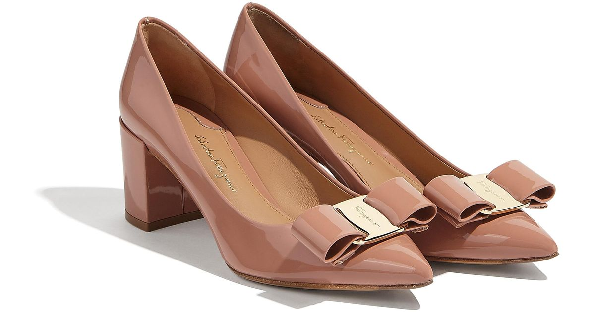 97917d36b710 Lyst - Ferragamo Big Vara Bow Pump Shoe