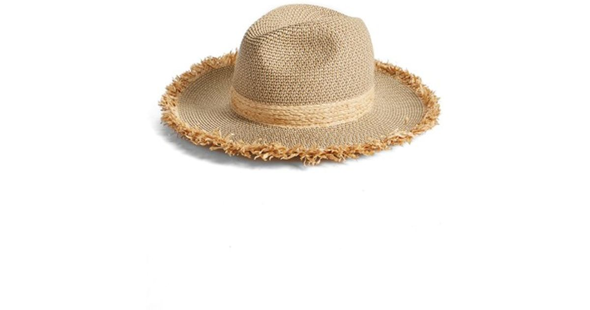 31834dc261a Lyst - Caslon Fringe Panama Hat in Brown