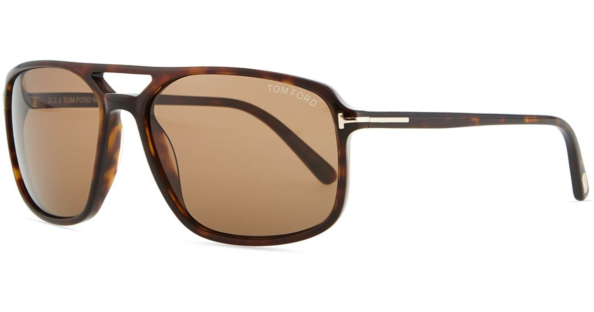 2d213a0e53bd6 Lyst - Tom Ford Terry Acetate Sunglasses in Brown for Men