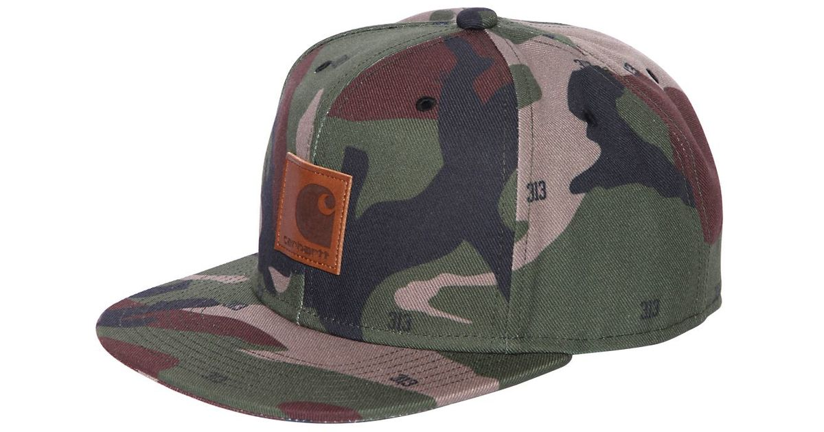 Lyst - Carhartt Starter Camouflage Cotton Canvas Cap in Green for Men d530ba83877b