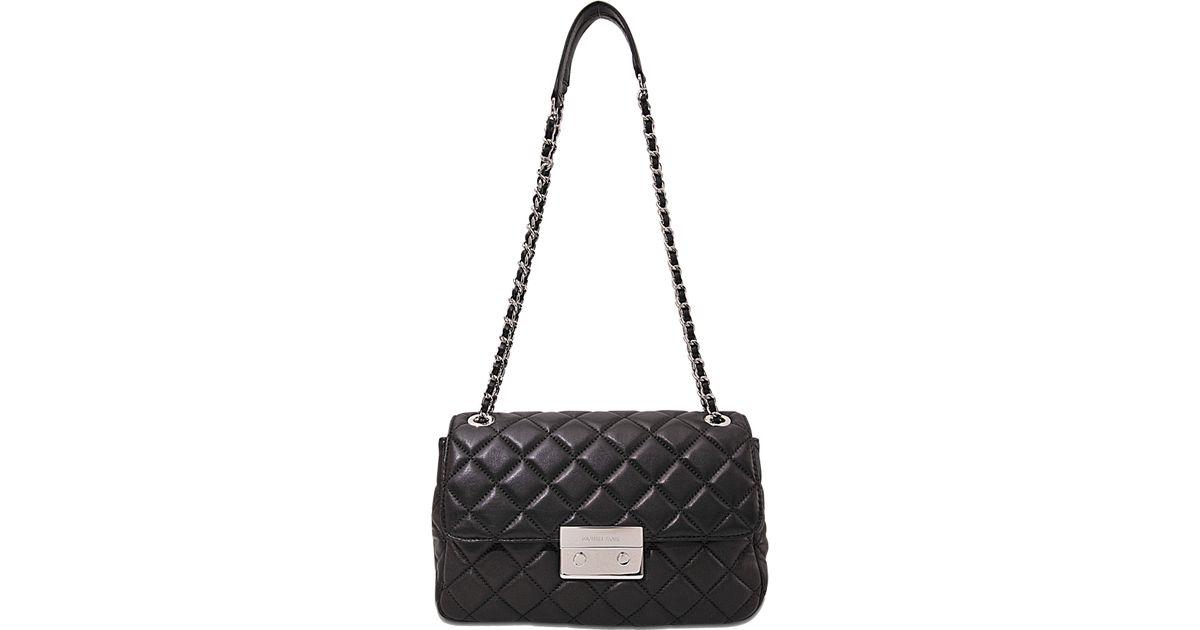 fa5c7a0c63c Lyst - MICHAEL Michael Kors Sloan Lg Chain Shoulder Bag in Black