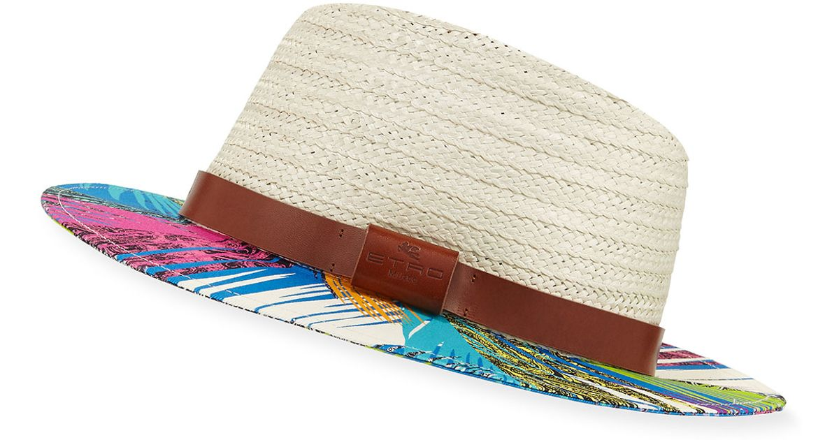 Lyst Fedora Etro Jungle Hat Trim Woven 0Nwmv8n