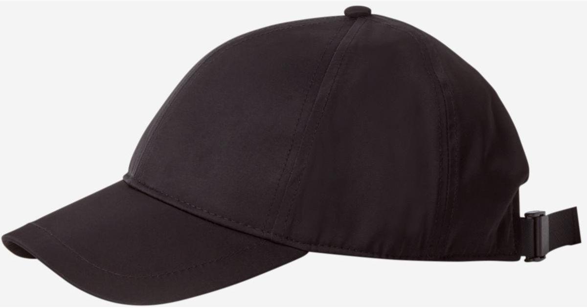 Lyst - Filippa K Shiny Twill Cap Black in Black b4d81ea37185