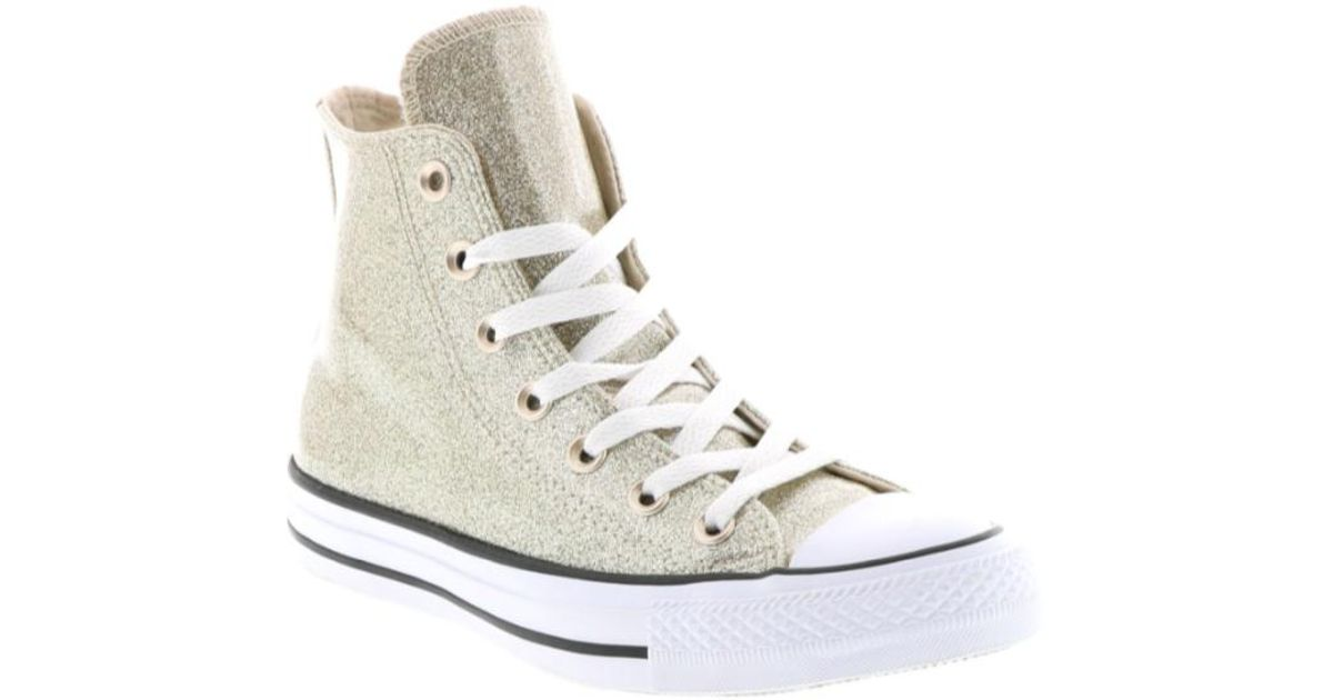Converse Women Chuck Taylor All Star Hi Starry Night Sneakers, Light Goldwhite