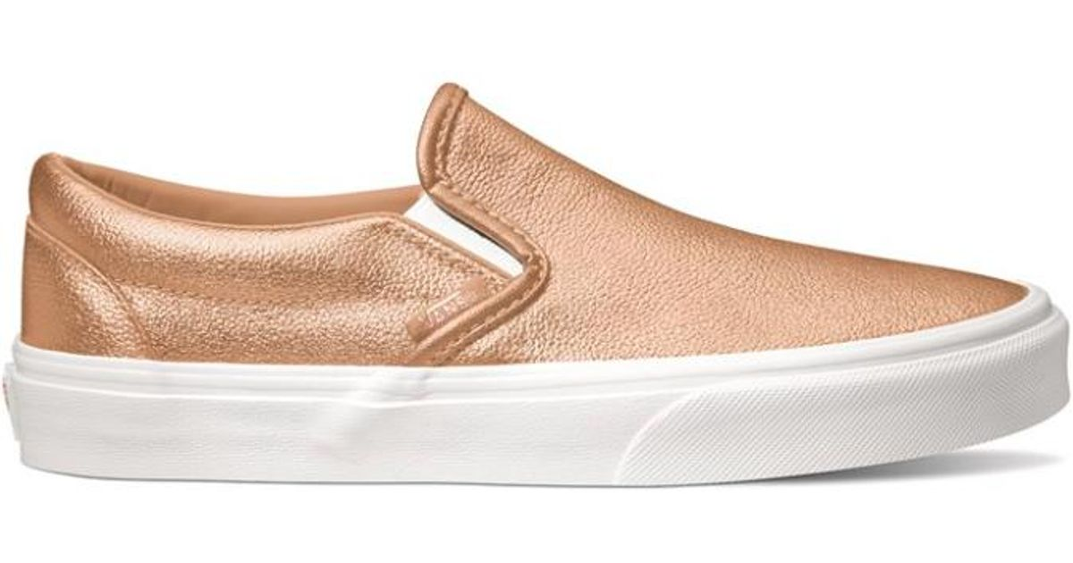 a66b1d2091c7 Lyst - Vans Women Metallic Classic Slip-on Sneakers