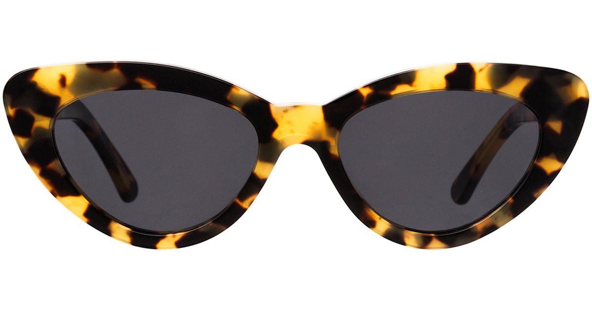 8e28ee0e47 Lyst - Illesteva Pamela Tortoise Sunglasses in Blue