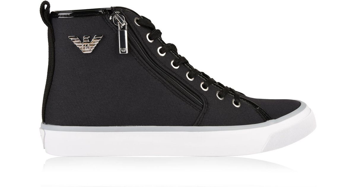 armani jeans high top trainers