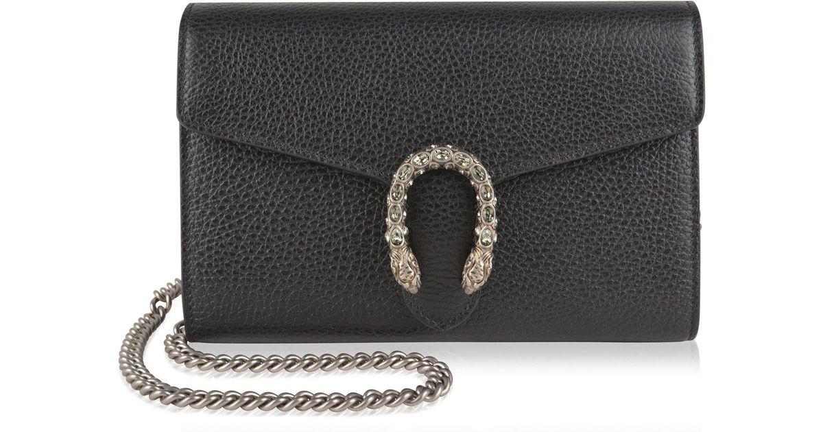 1ef6c822232 Gucci Dionysus Mini Chain Shoulder Bag in Black - Lyst