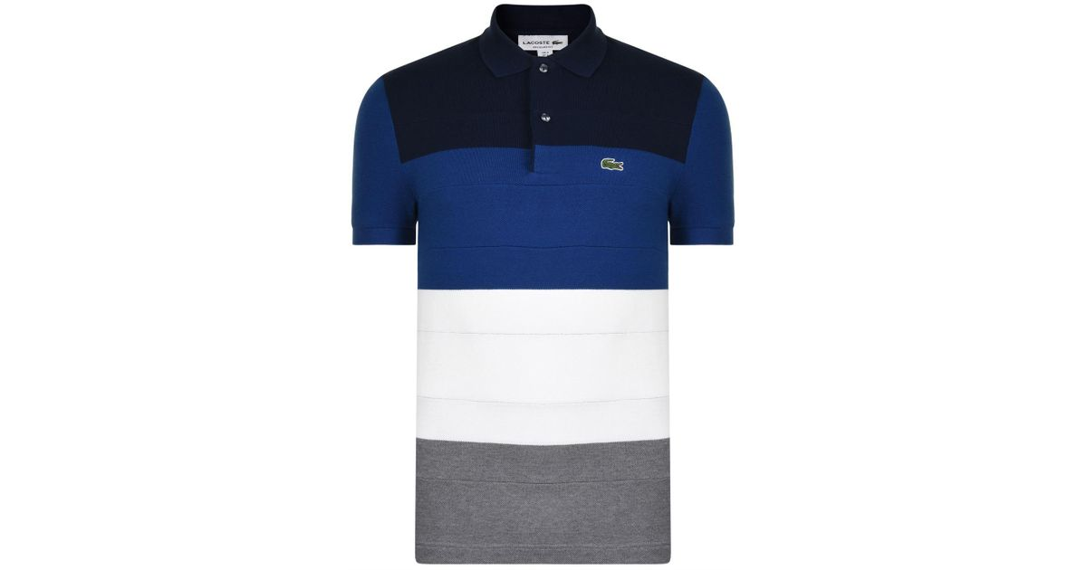 17e53060 Lacoste Colour Stripe Polo Shirt in Blue for Men - Lyst