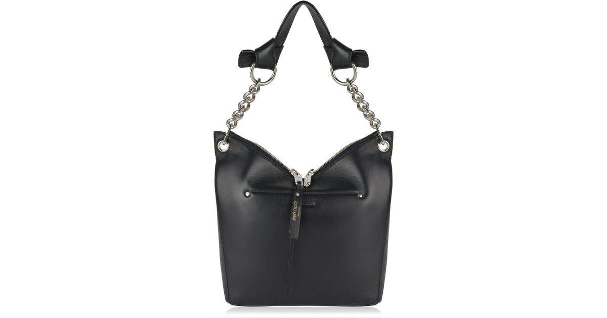 b33fae1cdd Jimmy Choo Raven Small Shoulder Bag in Black - Lyst