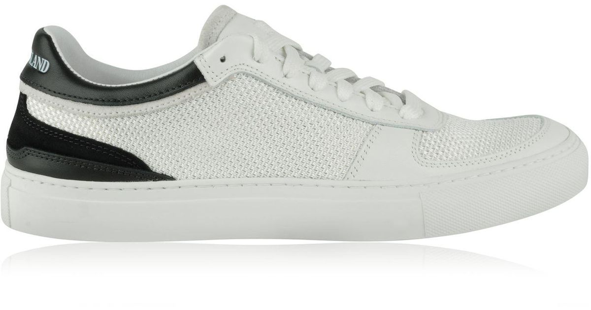 Stone Island Logo Mesh Trainers in White for Men - Lyst thoughts on b37ad  84dcb ... 91d18a67d