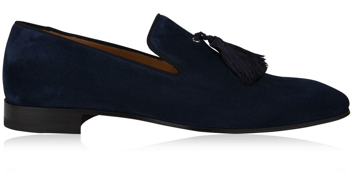 3d9dce5598f7 Christian Louboutin Officialito Suede Loafers in Blue for Men - Lyst
