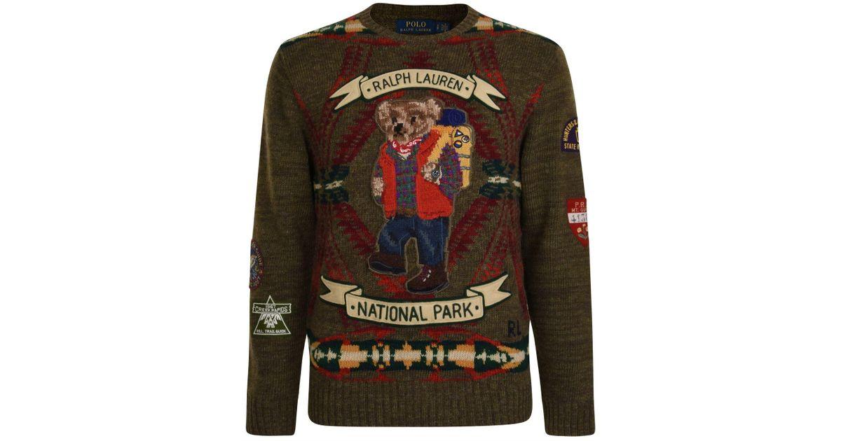 b9fa1a7e77c1e Lyst - Polo Ralph Lauren Go Bear Knitted Jumper for Men