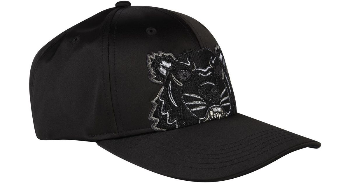 4bdd38c9 KENZO Holiday Capsule Satin Tiger Cap in Black for Men - Lyst