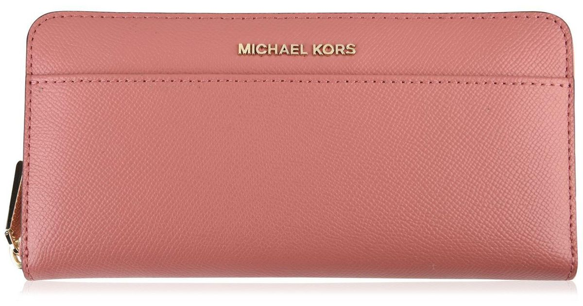 6296545f7ec2 Lyst - MICHAEL Michael Kors Leather Continental Wallet in Pink