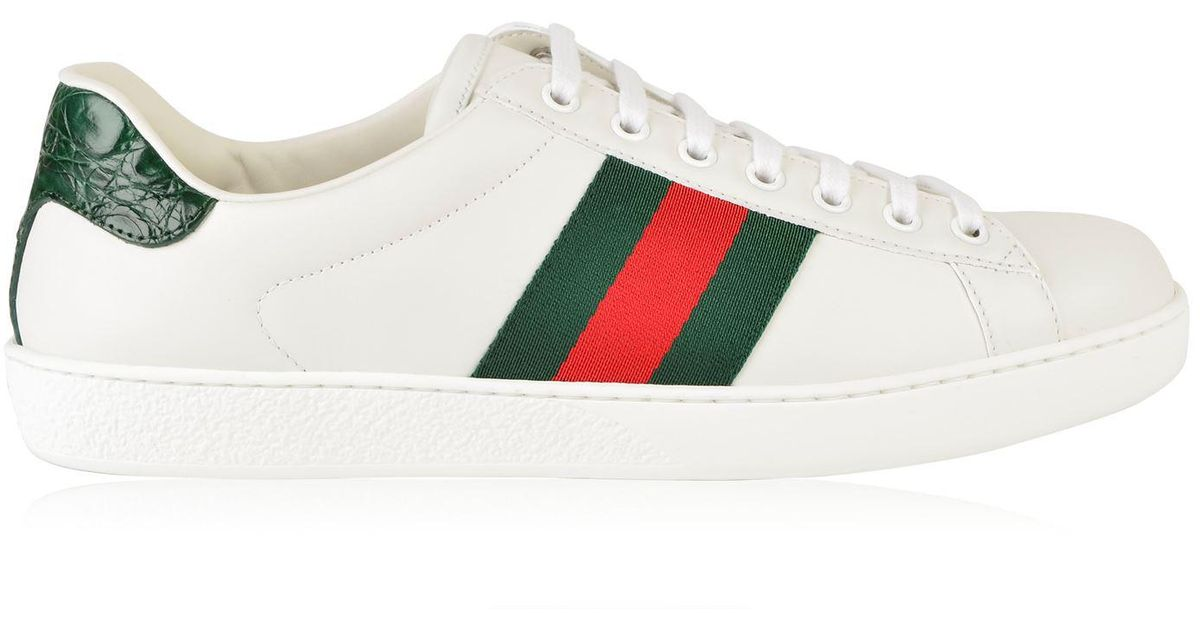 76fac8f70d7 Lyst - Gucci New Ace Web Trainers for Men